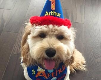 Birthday Boy Dog Bandana And Party Hat Set