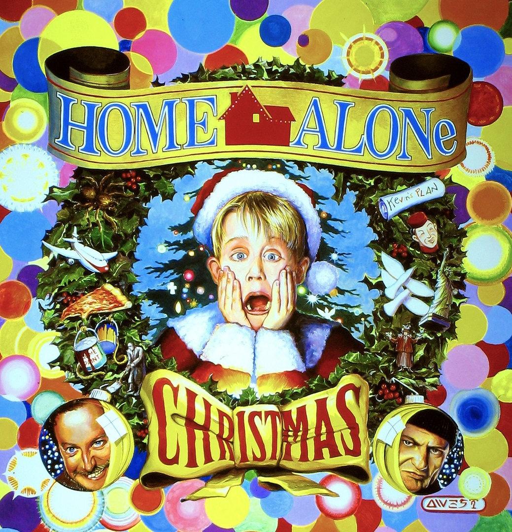 Home Alone Christmas Original Acrylic Painting 50 X