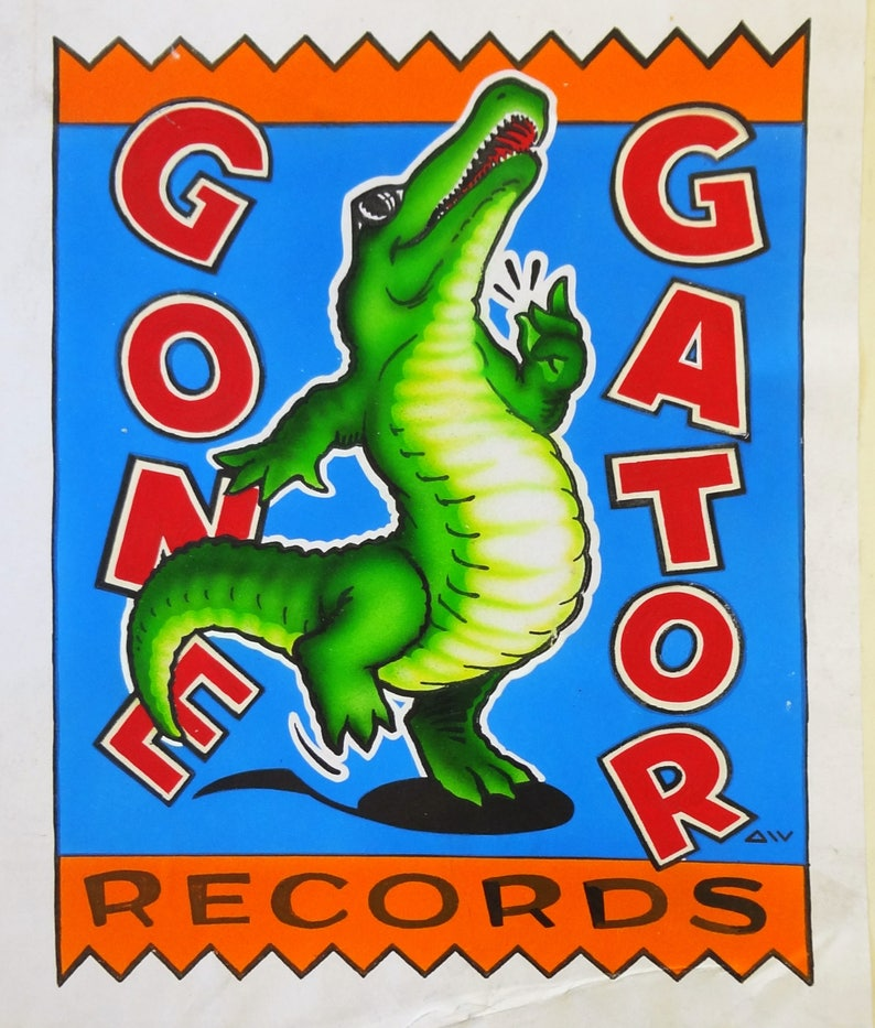 Gone Gator Records, original artwork logo designs, concept sketches and  final master gouache painting