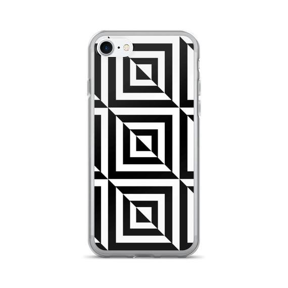 best sneakers cdfa4 963e6 3D Geometric Black and White iPhone 7/7 Plus Case, iPhone Covers, iPhone  Cases, Trendy Phone Case, iPhone Seven, Phone Accessories