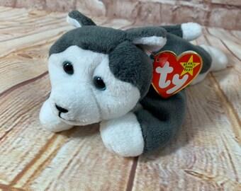 50195d82d06 Vintage 1996 TY Nanook The Husky Dog Plush Stuffed Animal the Original  Beanie Babies 8