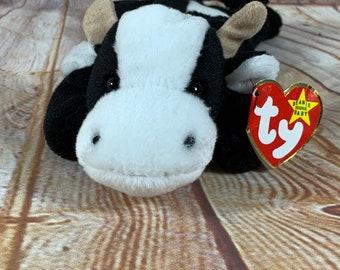 cb26589e611 Vintage 1994 TY Daisy the Cow Plush Stuffed Animal the Original Beanie  Babies 8