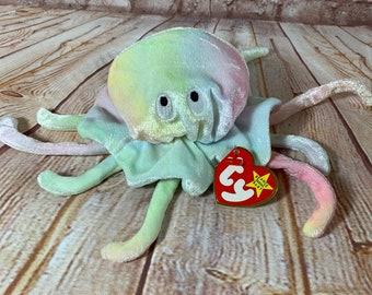 85b34c98851 Vintage 1999 TY Goochy the Jellyfish Plush Stuffed Animal the Original Beanie  Babies
