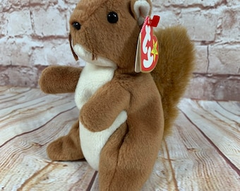 e5fa30bf2ea Vintage 1996 TY Nuts the Squirrel Plush Stuffed Animal the Original Beanie  Babies 8