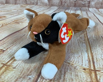 1301398a4cf Vintage 1996 TY Chip the Calico Cat Plush Stuffed Animal the Original Beanie  Babies 8