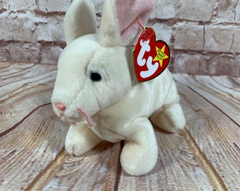 Vintage 1999 TY Nibbler the Frowning Rabbit Bunny Plush Stuffed Animal the  Original Beanie Babies 8