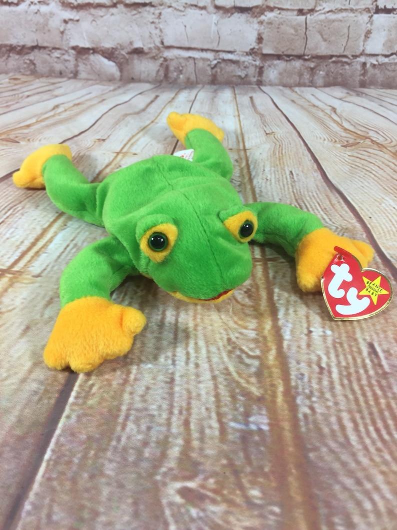 09590539de3 Vintage 1997 TY Smoochy the Frog Plush Stuffed Animal the