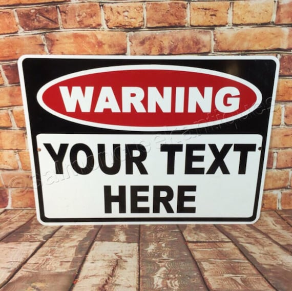 """5 CUSTOM PERSONALIZED /""""YOUR TEXT HERE/"""" Metal Parking Safety Signs"""