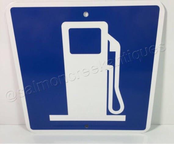 """Station de gaz Metal Garage rue route signe 6 """"x 6» ou 12 «x12 «neuf (2 tailles disponibles)"""