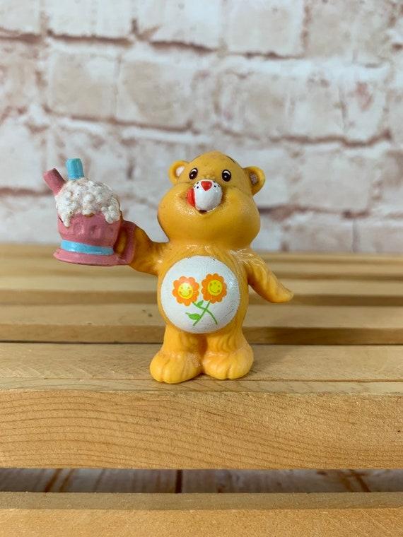 Vintage 1984 Care Bear Friend Bear with milkshake Mini PVC Miniature Figure Toy