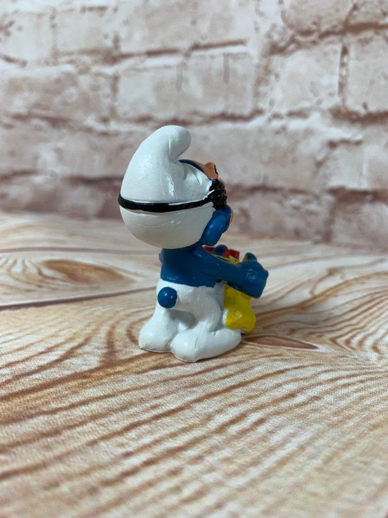 Vintage 1984 Halloween Gargamel Mask Smurf Mini PVC Miniature Action Figure Peyo Toys Figurine   Halloween