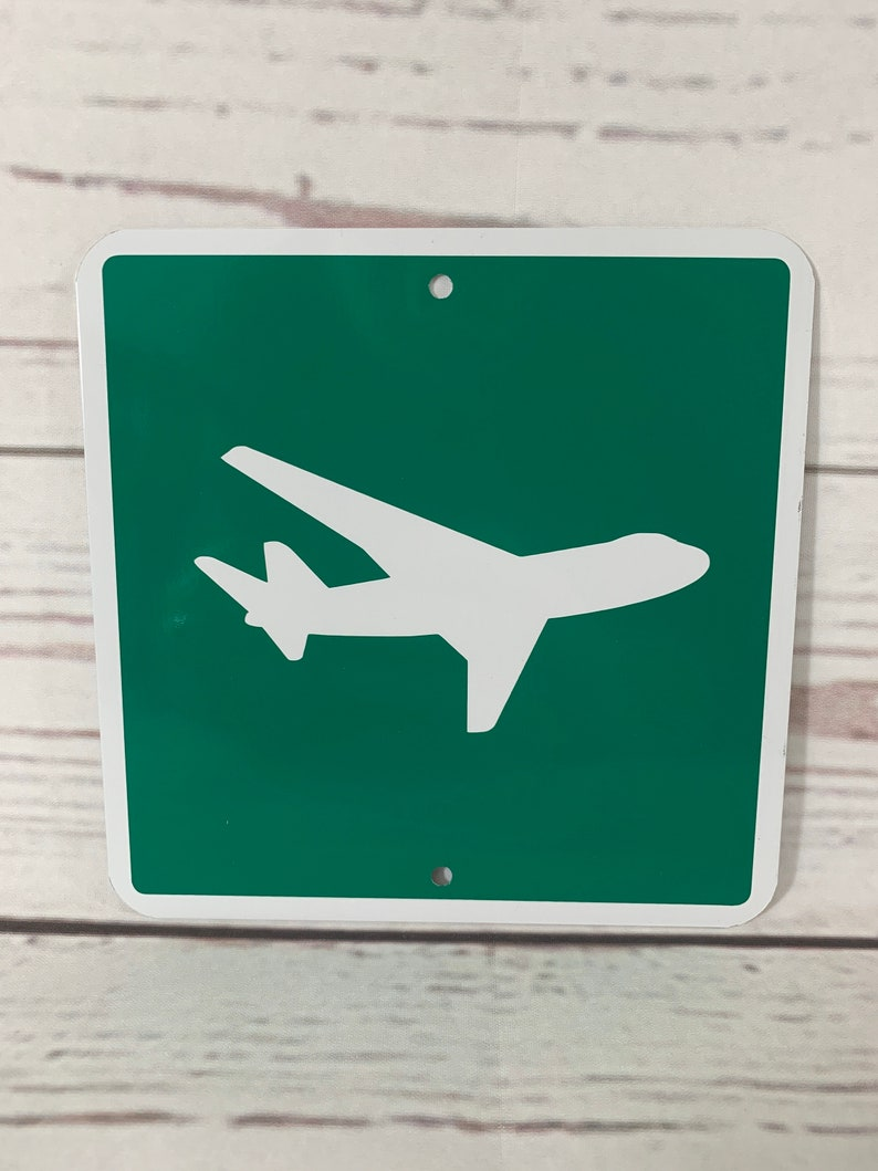 AIRPORT Airplane Mini Metal Recreational Road Street Sign 6x6 or 12x12 NEW 2 sizes available