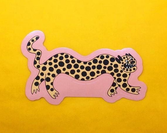 Long Leopard Sticker
