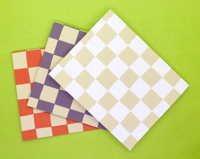 Checkered Notecards