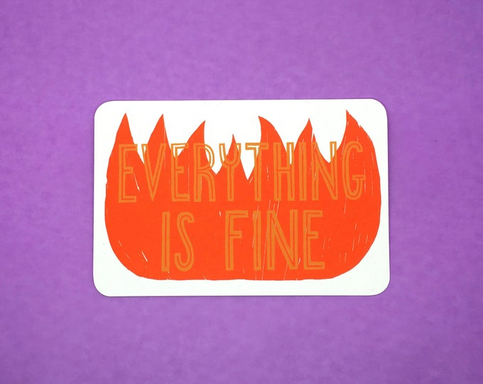 Everything Is Fine Postcard