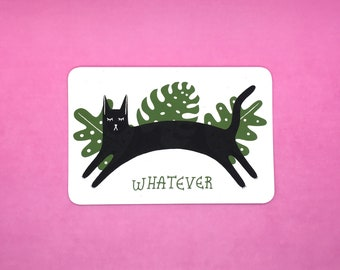 Whatever Cat Postcard