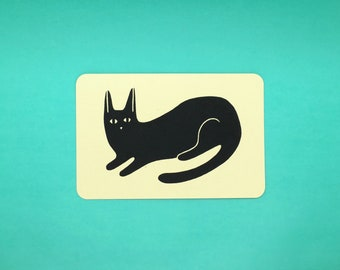 Black Cat Postcard
