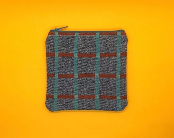Gridded Zipper Pouch