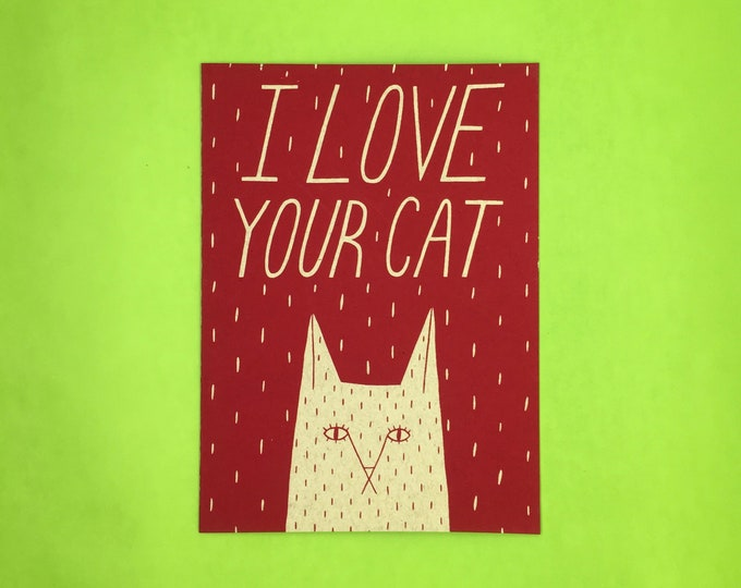 I Love Your Cat Card