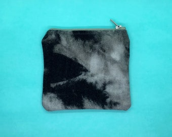 Bleach Dyed Zipper Pouch