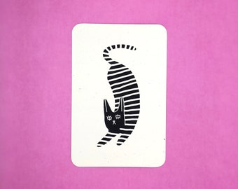 Striped Cat Postcard