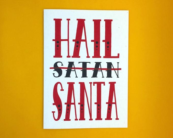 Hail Santa Card