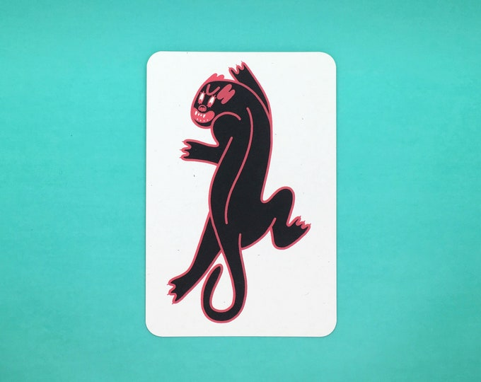 Panther Postcard