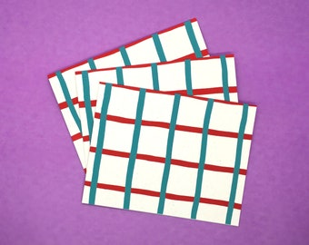 Gridded Notecards