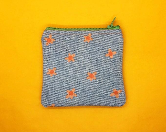 Flower Zipper Pouch