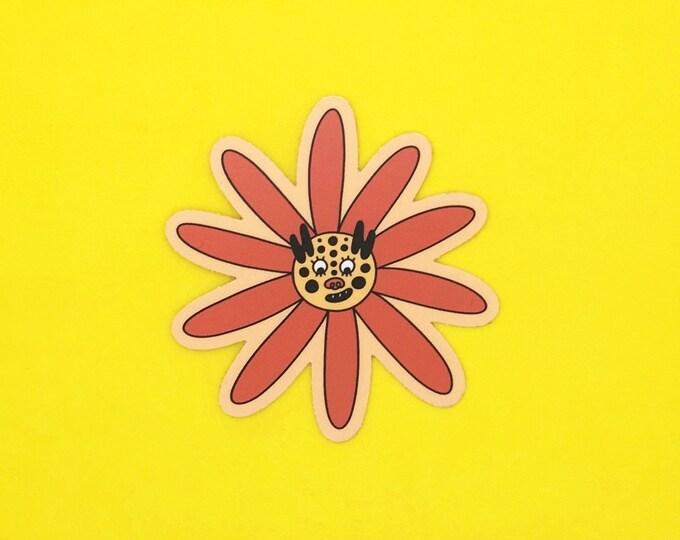Tiger Flower Sticker