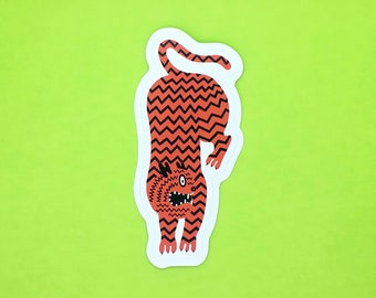 Chevron Tiger Sticker