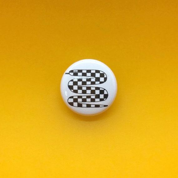 Checkered Snake Pin