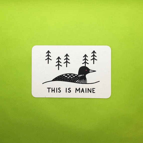 This Is Maine Postcard