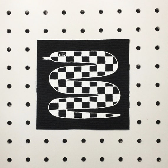 Checkered Snake Patch