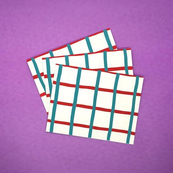 Gridded Notecards