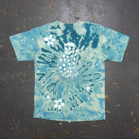 Blue Groovy Cool Cat Shirt