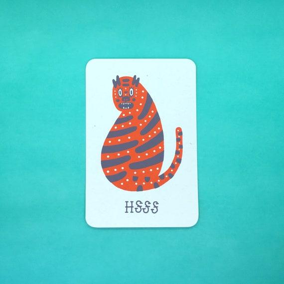 HSSS Tiger Postcard