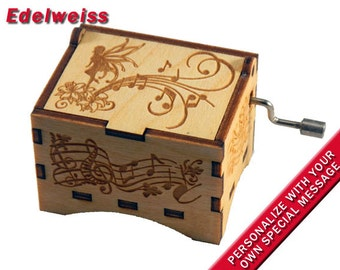Black Rectangle jewelry Music Box Moon River