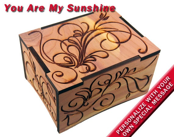 FnLy Antique Engraved Wooden Wind-Up Musical Box,Edelweiss Musical Box,with Gold-Plating Movement in,Heart-Shaped