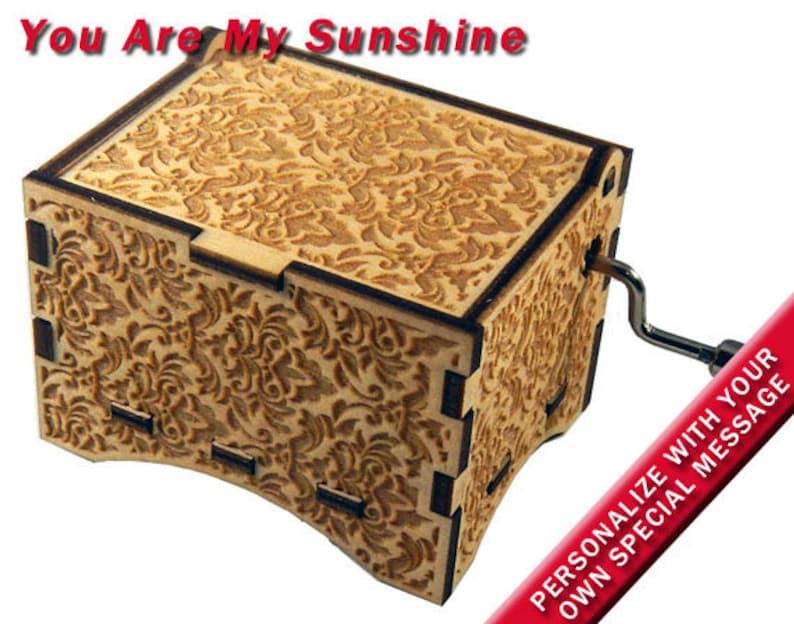 Music Box You Are My Sunshine Laser Engraved image 0