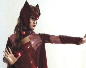 Life Size Scarlet Witch Superhero Statue Prop
