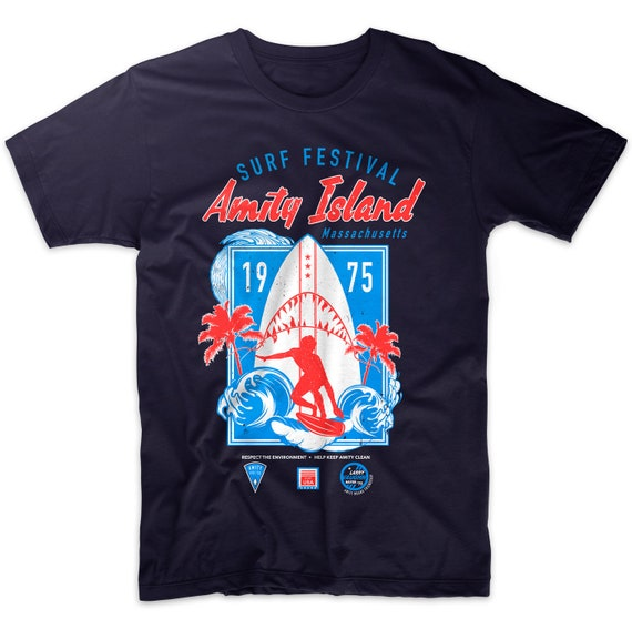 Amity Island Surf Festival 1975 T-shirt Men's S to 2XL