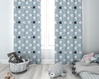 Kids Room Curtains | Curtains Mockup | Photoshop Kids Room Curtains Mockup  | Nursery Curtains Photoshop Mockup | Custom Curtains