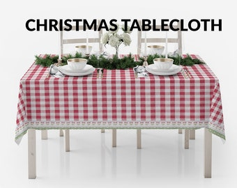 Download Free Christmas Tablecloth Set | Christmas Table and Tablecloth Mockup | Photoshop Table and Tablecloth | Christmas Set | PSD Template