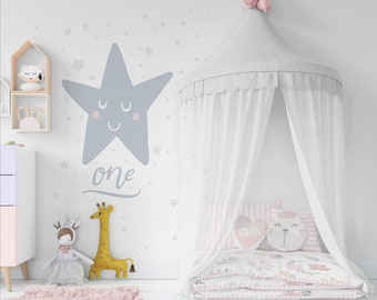 Kids Bed With Drapery And Frame Mockup Set Wall Frames Mockups
