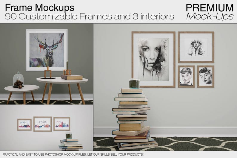 Frames Mockup Set | Interiors & Frames Mockups | Photoshop Frames | Frames  | Frame mockup | Frames mockup І