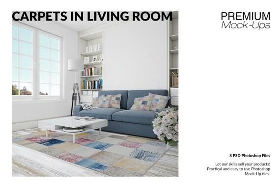 Rugs Mockups | Carpets | Living Room Carpets | Round Rug| Rectangular Rug|  | Square Rug| Living Room Rugs Mockup | Rug and Carpet Mockup