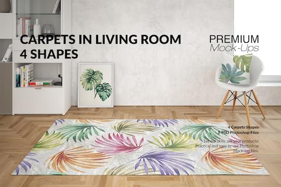 Teppiche Mockups | Teppiche | Wohnzimmer Teppiche | Runder Teppich |  Rechteckige Teppich | | Platz Teppich | Wohnzimmer Teppiche Mockup |  Teppich und ...