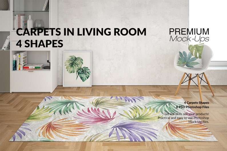 Beau Rugs Mockups | Carpets | Living Room Carpets | Round Rug| Rectangular Rug|  | Square Rug| Living Room Rugs Mockup | Rug And Carpet Mockup