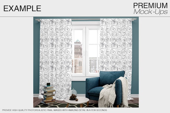 Photoshop Curtains Mockup Curtains and pillows Mockup Curtain Panel Curtains Mockup Curtains Linen Drapes Custom Curtains